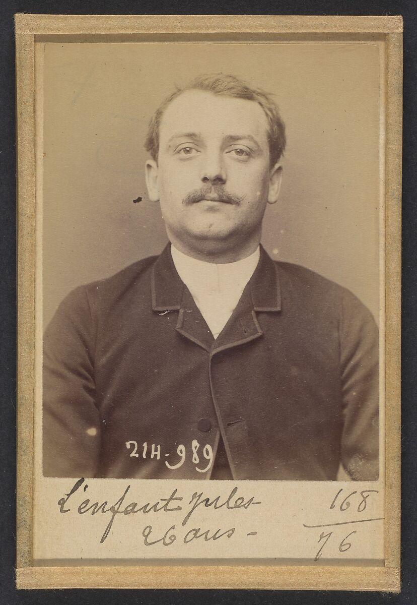 Alphonse Bertillon   Lenfant. Émile, Jules. 26 ans, né à Choisy-le-Roi (Seine). Modeleur. Anarchiste. 2/3/94.   The Met