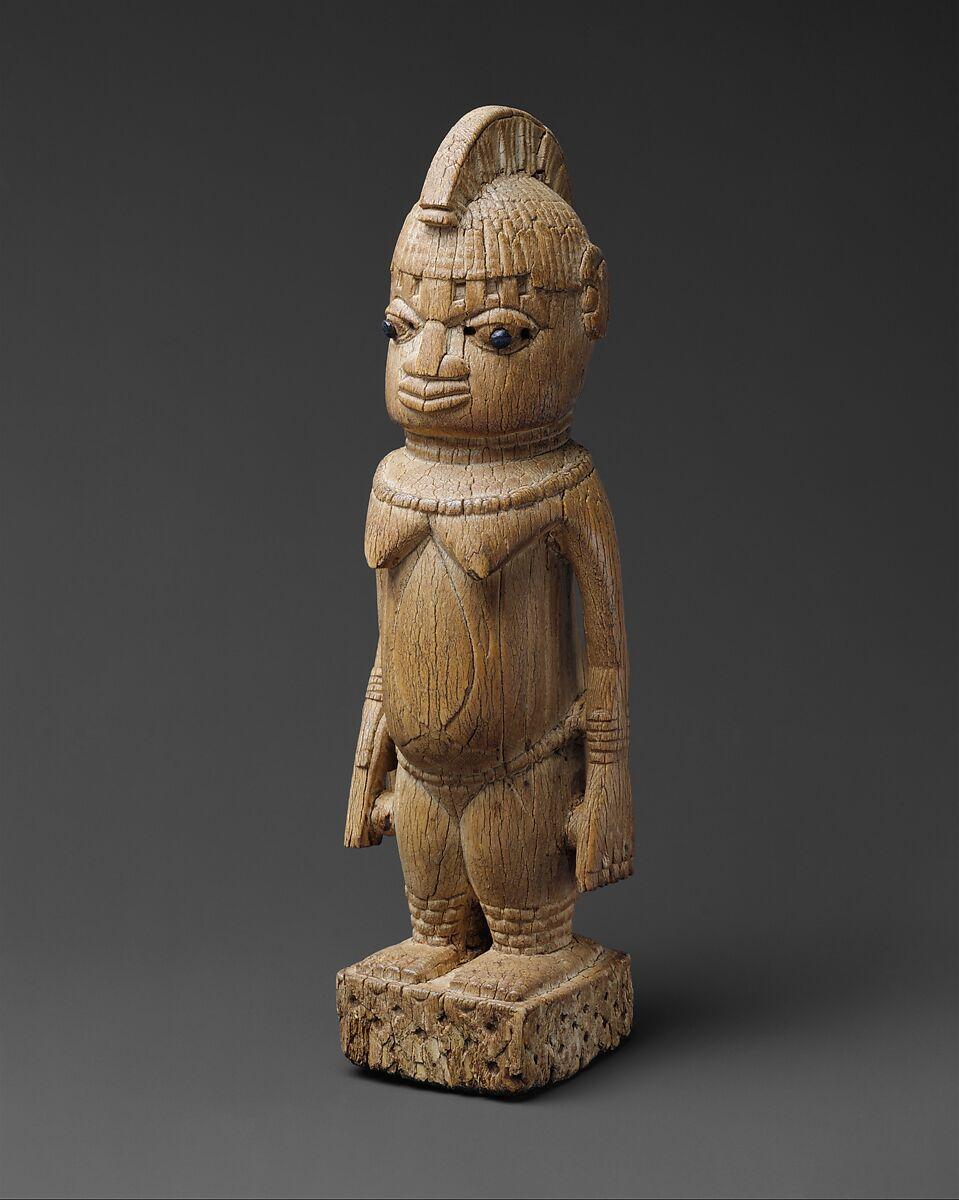 Figure: Female, Ivory, metal, Edo peoples