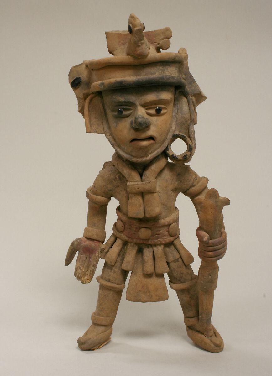 Ceramic Standing Warrior Figure, Ceramic, pigment, Remojadas