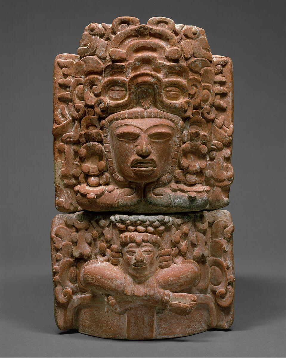 Incensario maya, siglo V-VI. Imagen: Metropolitan Museum of Art.