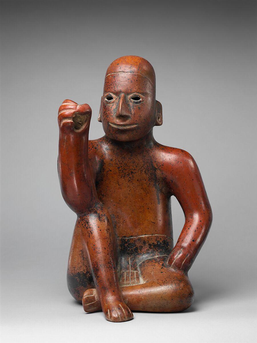 Standard Bearer (?), Ceramic, Colima