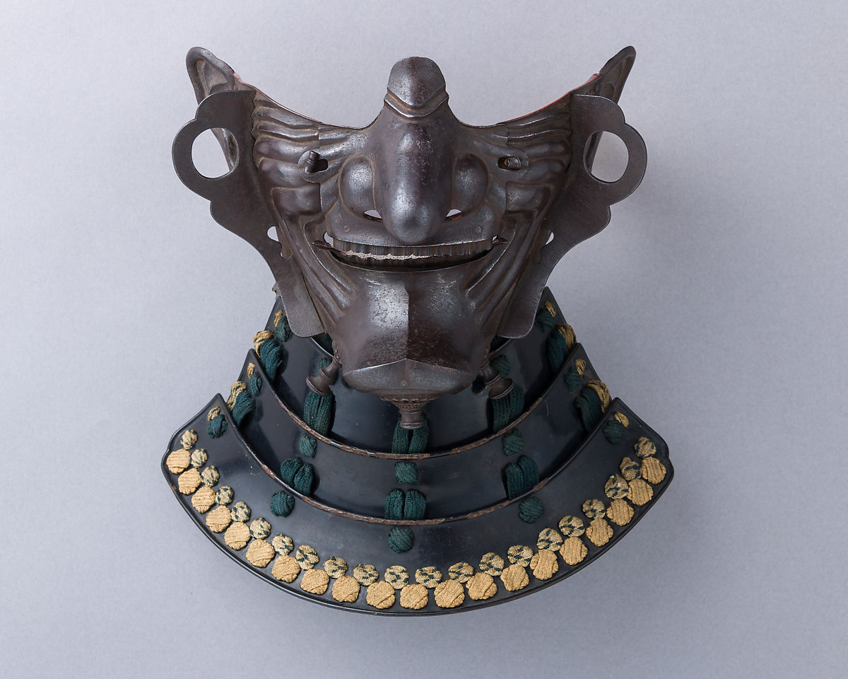 Signed by Myōchin Munetomo | Half Mask (Ho-ate) with Neck Guard | Japanese | The Met