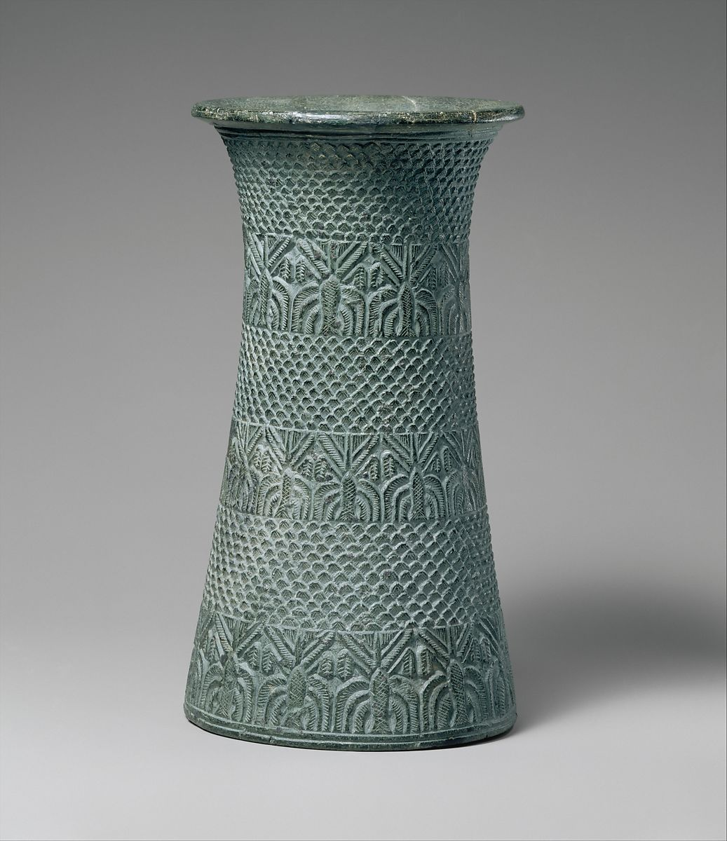 Vase with overlapping pattern and three bands of palm trees | Early Bronze Age | The Met
