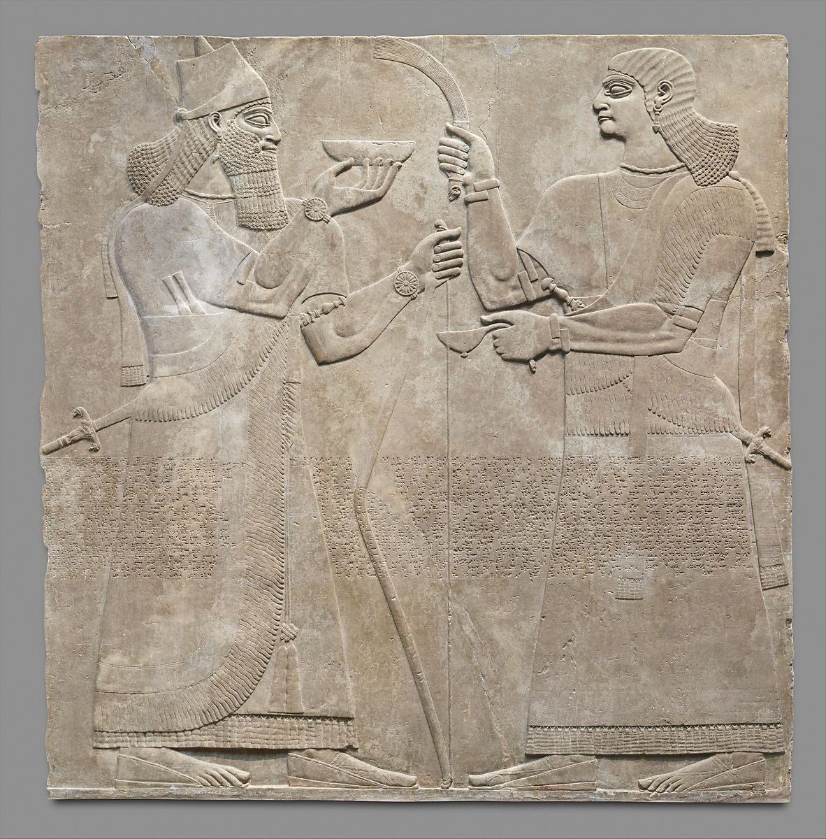 relief panel assyrian neo assyrian the met