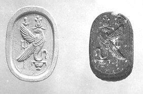 Scarab seal with human head | Iron Age, Phoenicia (?) | The Metropolitan Museum of Art