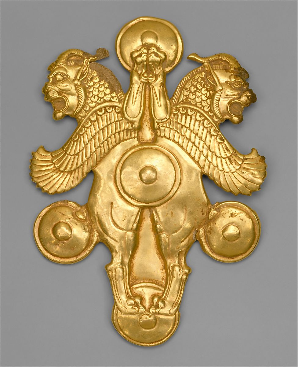 Plaque with horned lion-griffins | Achaemenid | Achaemenid | The Met