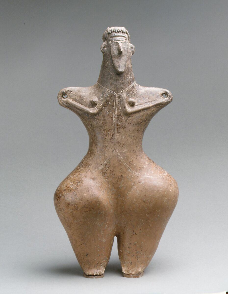 Statuette of a female, Ceramic, Iran