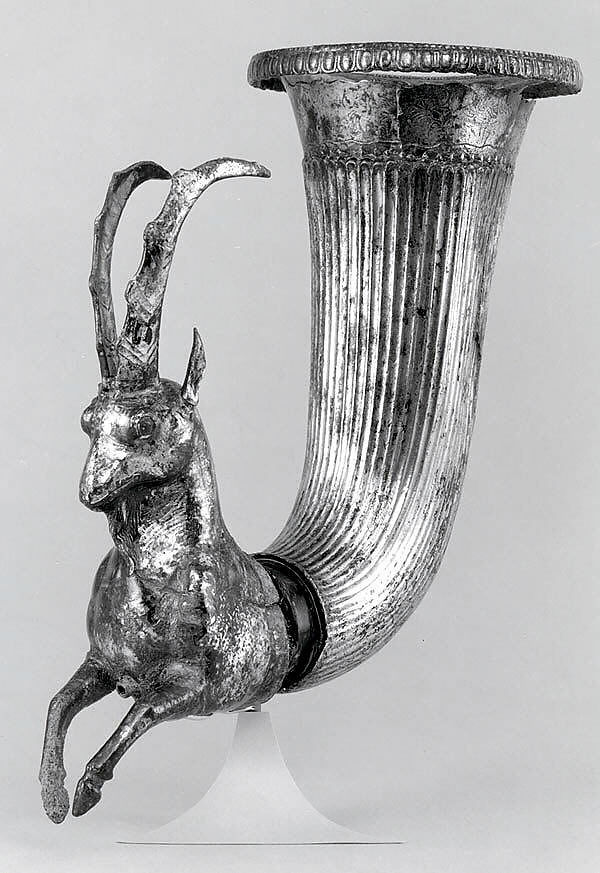 Rhyton terminating in the forepart of a wild goat | Iran
