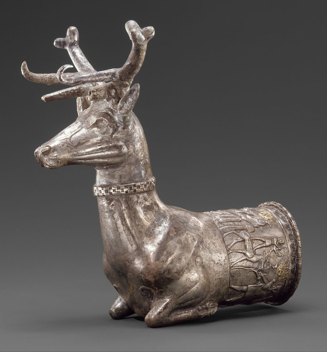 Vessel terminating in the forepart of a stag | Hittite | Hittite Empire | The Met