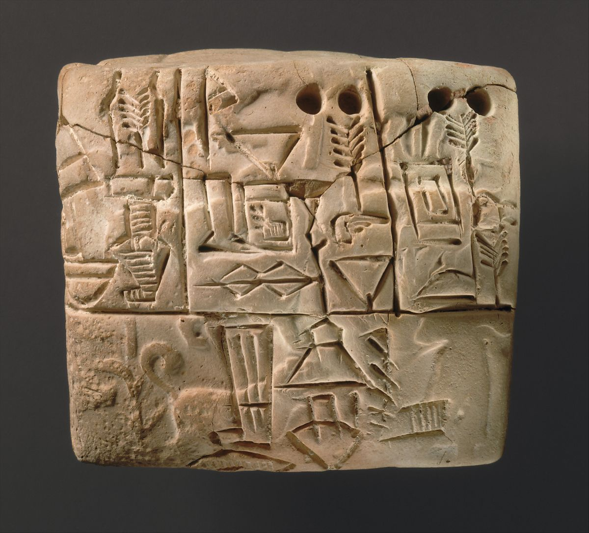 Proto Cuneiform Tablet With Seal Impressions Administrative Account