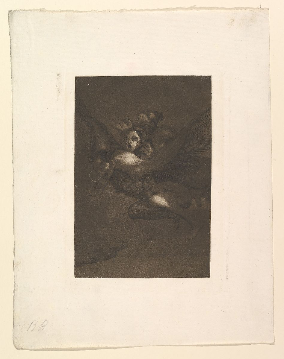 Bon Voyage (Buen Viage), from The Caprices (Los Caprichos), plate 64, Goya (Francisco de Goya y Lucientes) (Spanish, Fuendetodos 1746–1828 Bordeaux), Etching, burnished aquatint and burin
