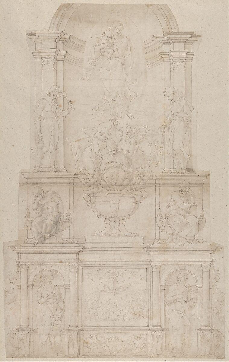 Michelangelo Buonarroti | Design for the Tomb of Pope Julius II della Rovere | The Met