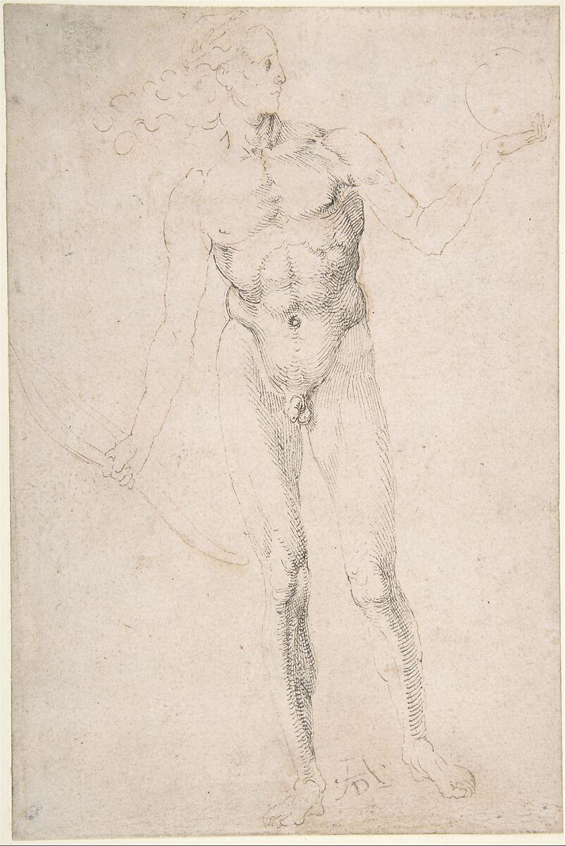 "Albrecht Dürer   Standing Male Nude Holding a Bow (""Poynter Apollo"")   The Metropolitan Museum of Art"