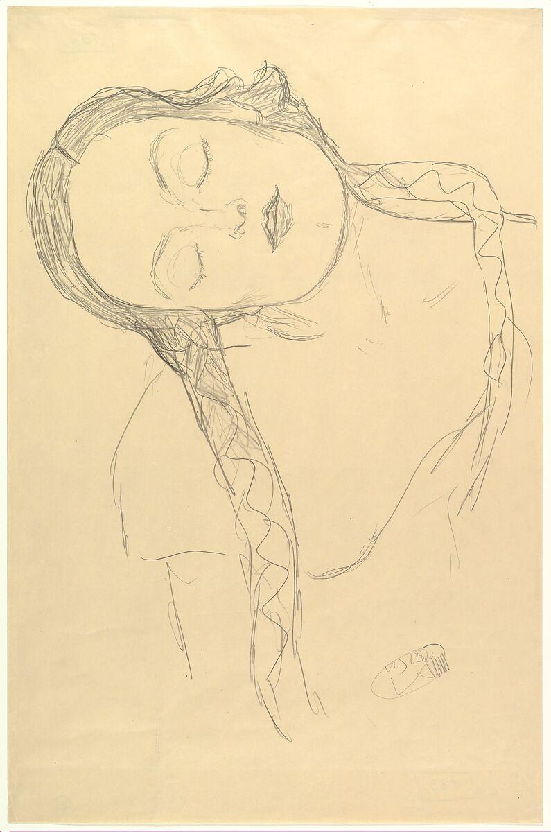 Gustav Klimt   Half-figure of a Young Woman   The Met