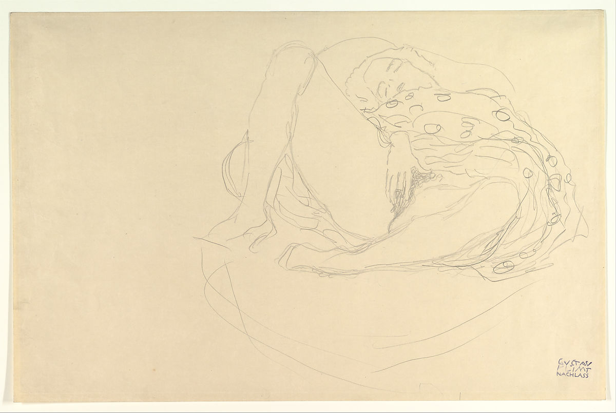 Gustav Klimt | Reclining Nude with Drapery | The Met