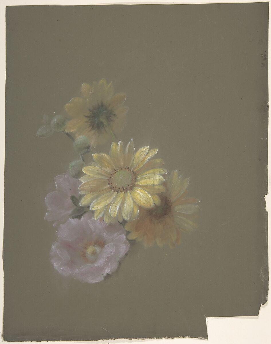 Antoine Berjon Yellow Daisies And Pink Wild Rose The Met