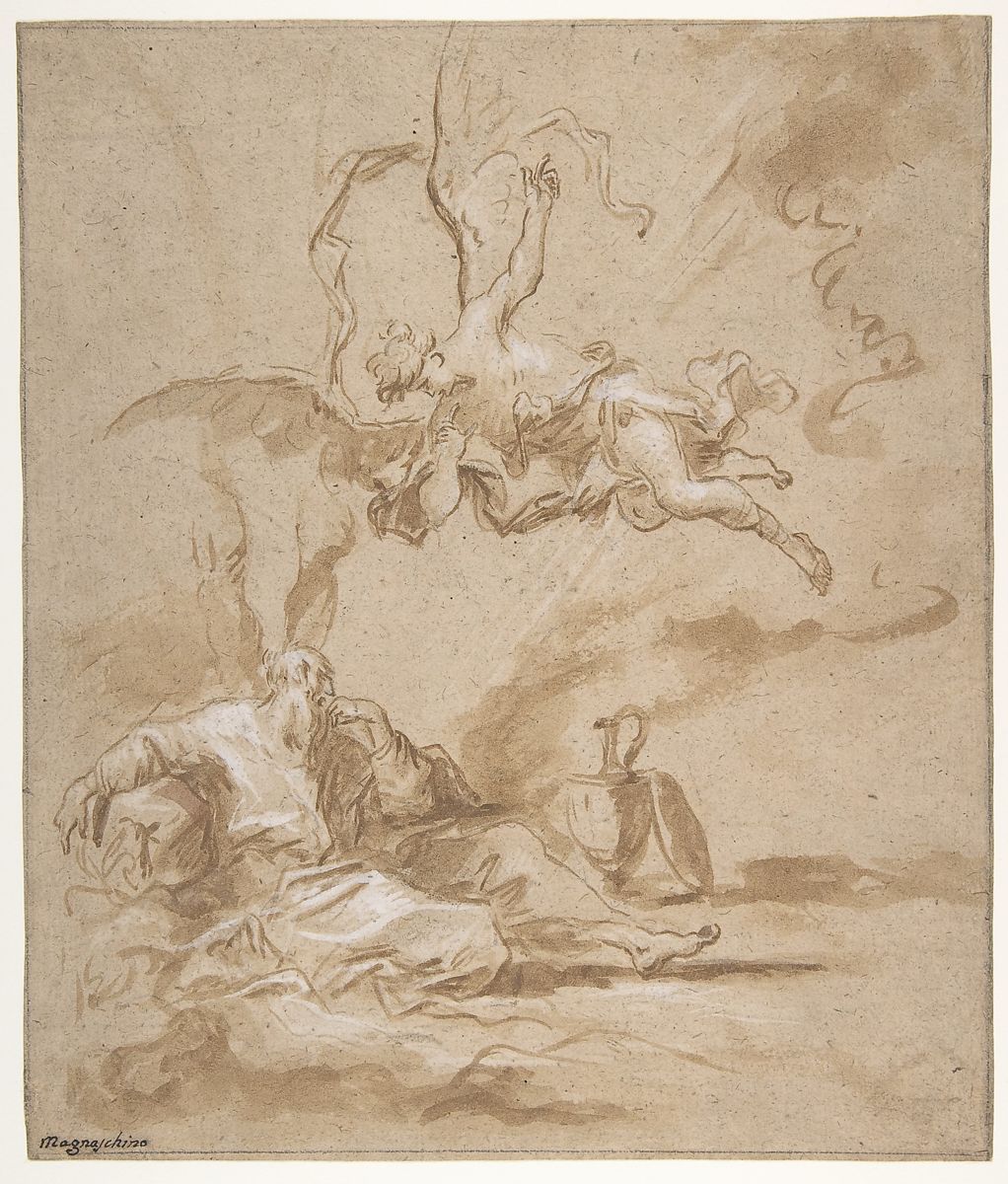 Alessandro Magnasco | Elijah Visited by an Angel in the Wilderness (1 Kings 19:4-8) | The Met