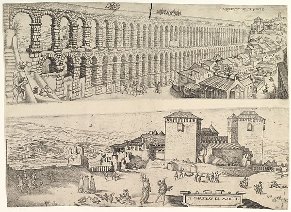The Aqueduct at Segovia and The Castle of Madrid