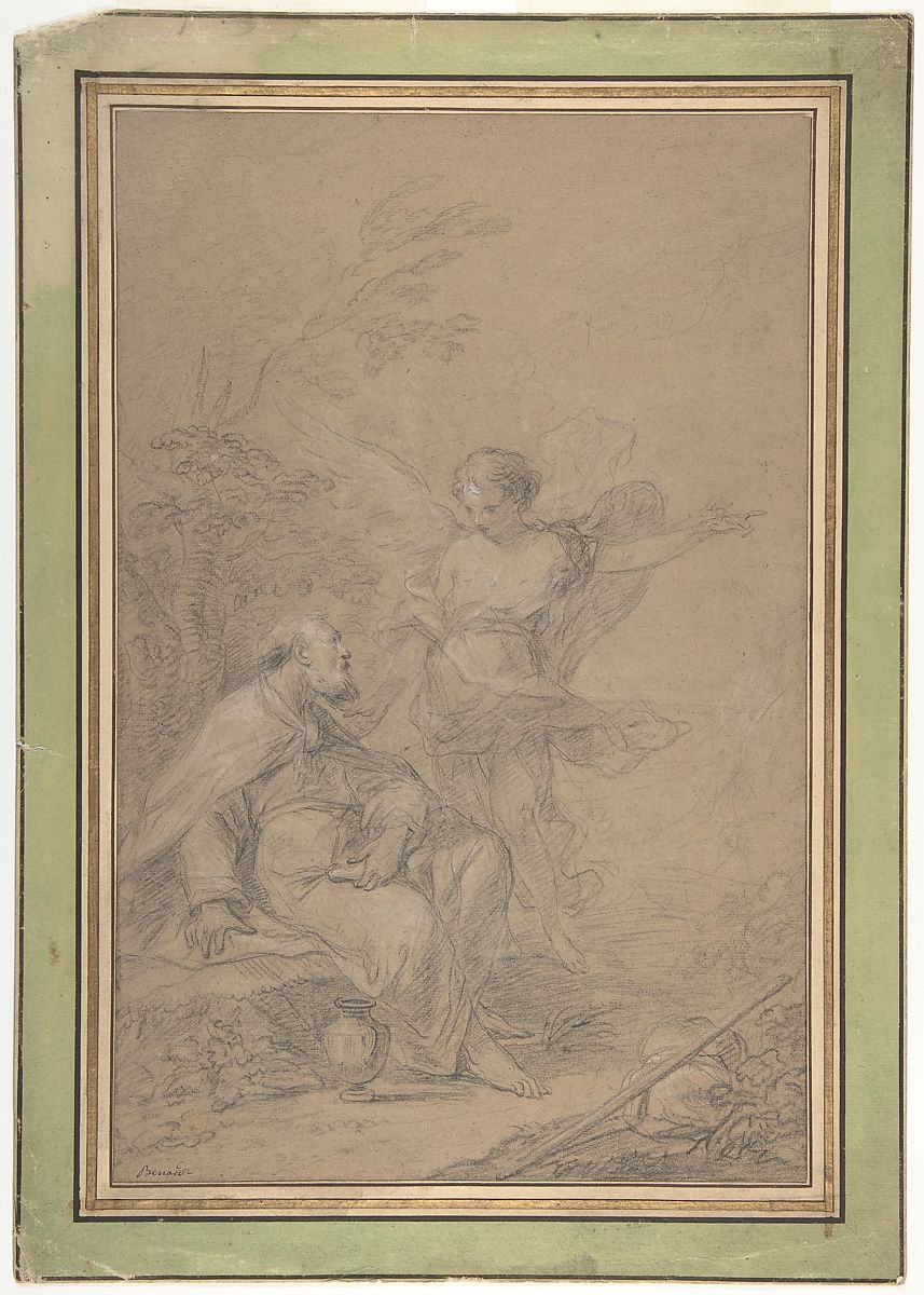 Jean-Baptiste Bénard | Elijah Visited by an Angel in the Wilderness (I Kings 19:4-8) | The Met