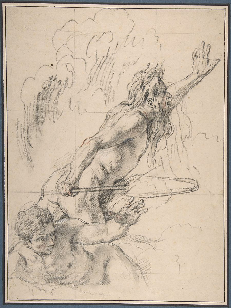 Charles Antoine Coypel | River God and Another Male Figure | The Met