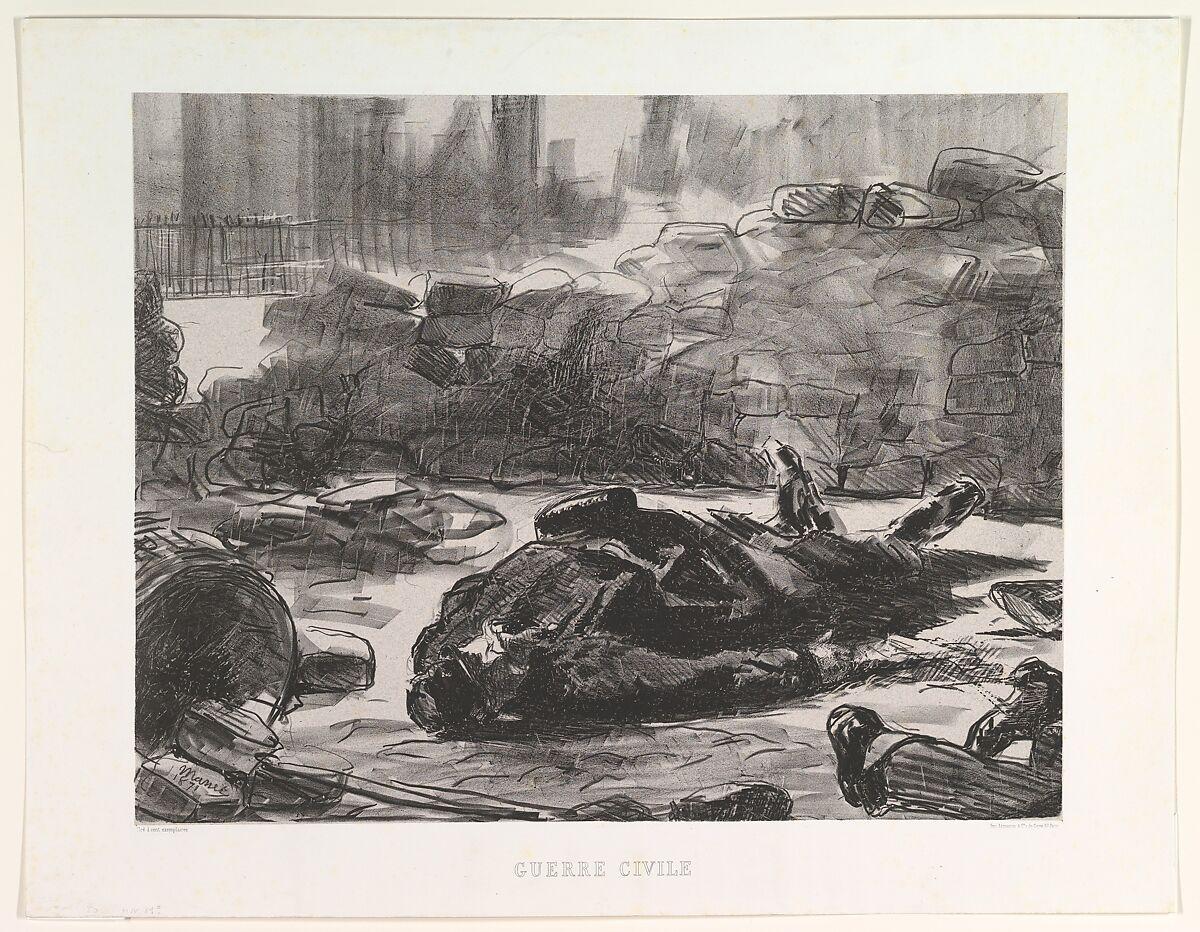 Civil War (Guerre Civile), Édouard Manet (French, Paris 1832–1883