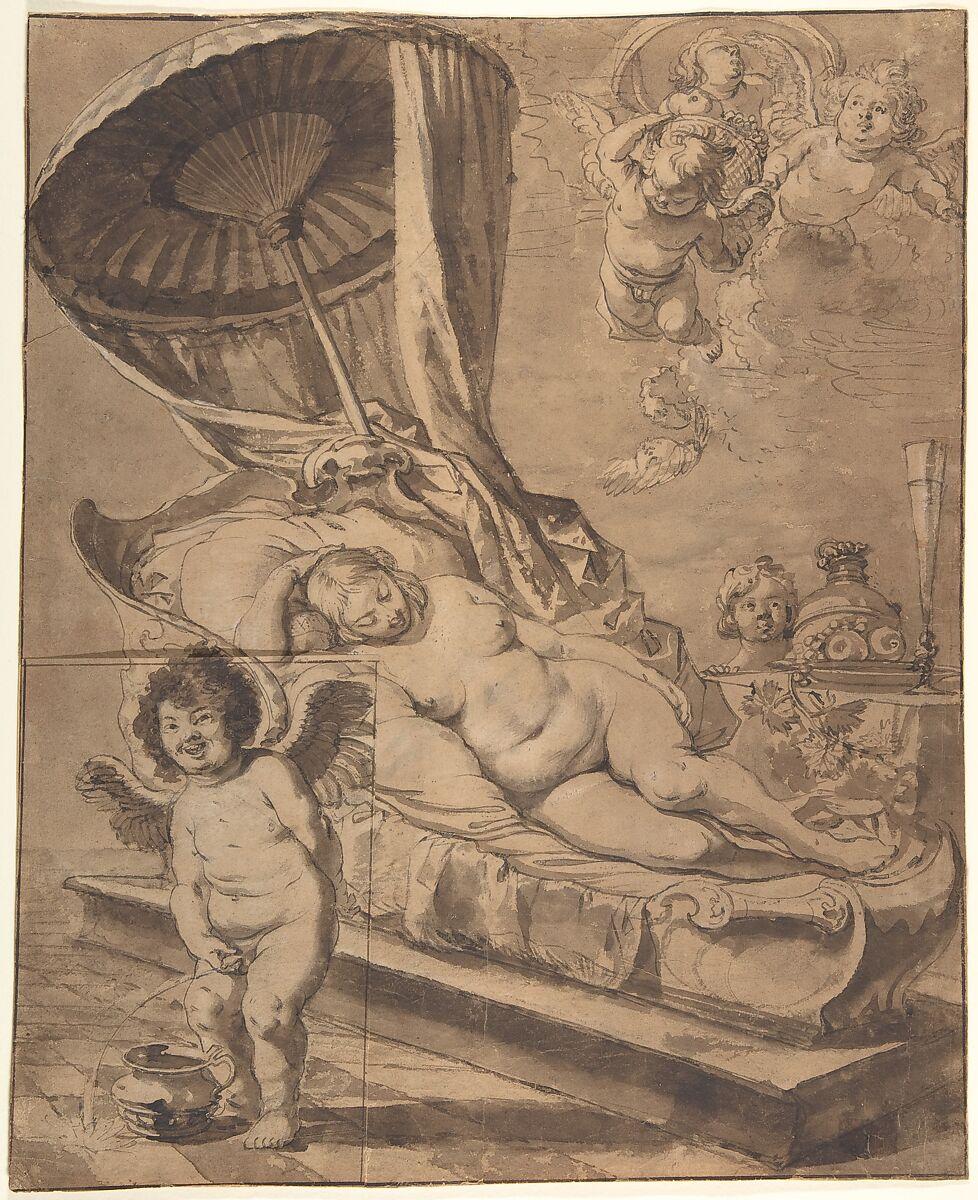 Nikolaus Knüpfer | Venus and Cupid (r); Studies of a Woman (v.) | The Met