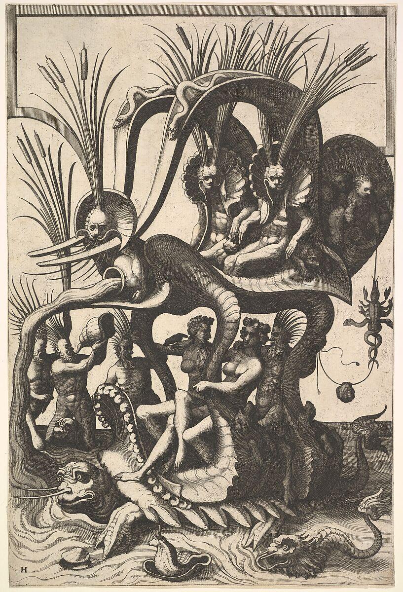 Johannes van Doetecum I | Fantastic Sea Carriage | The Met