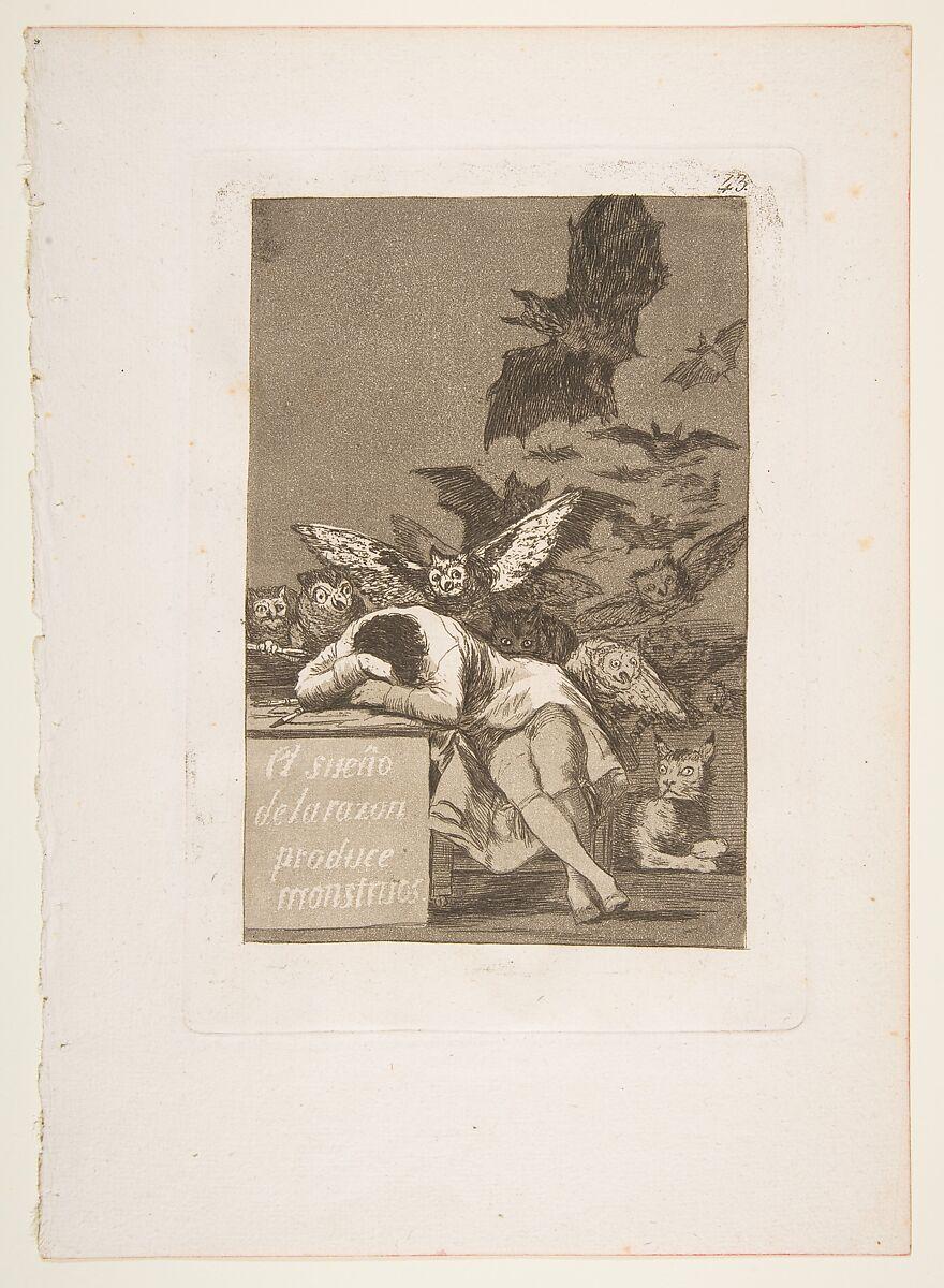 Top 5 Print Series: Francisco Goya, Plate 43: The Sleep of Reason Produces Monsters, 1799, Metropolitan Museum of Art, New York, NY, USA.