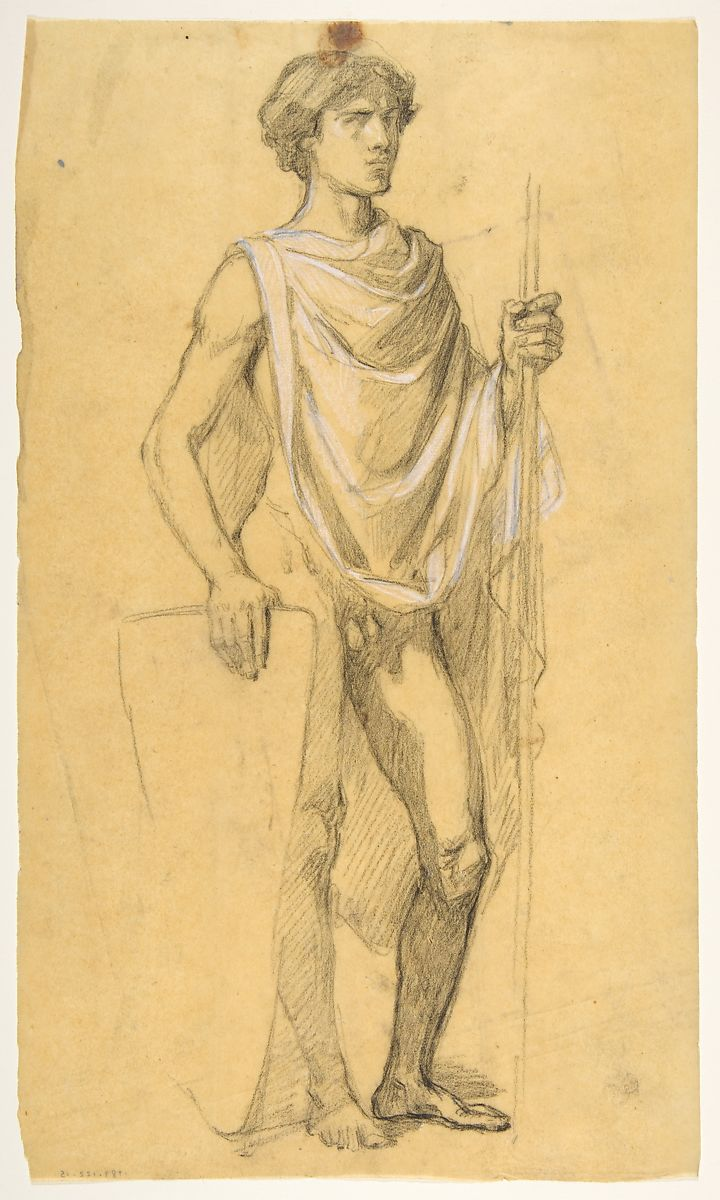 Isidore Pils | Soldier (middle register; study for wall paintings in ...