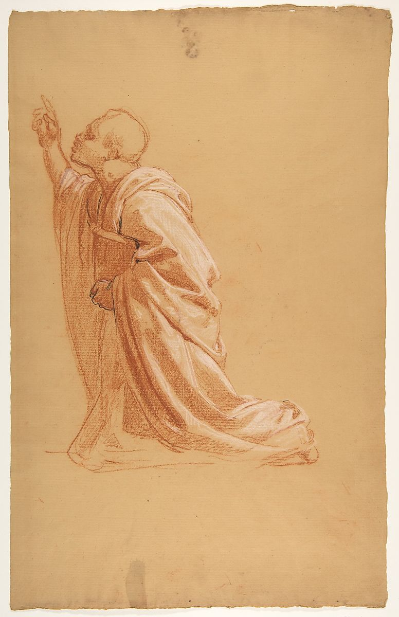 Isidore Pils | Cleric (lower register; study for wall paintings in ...