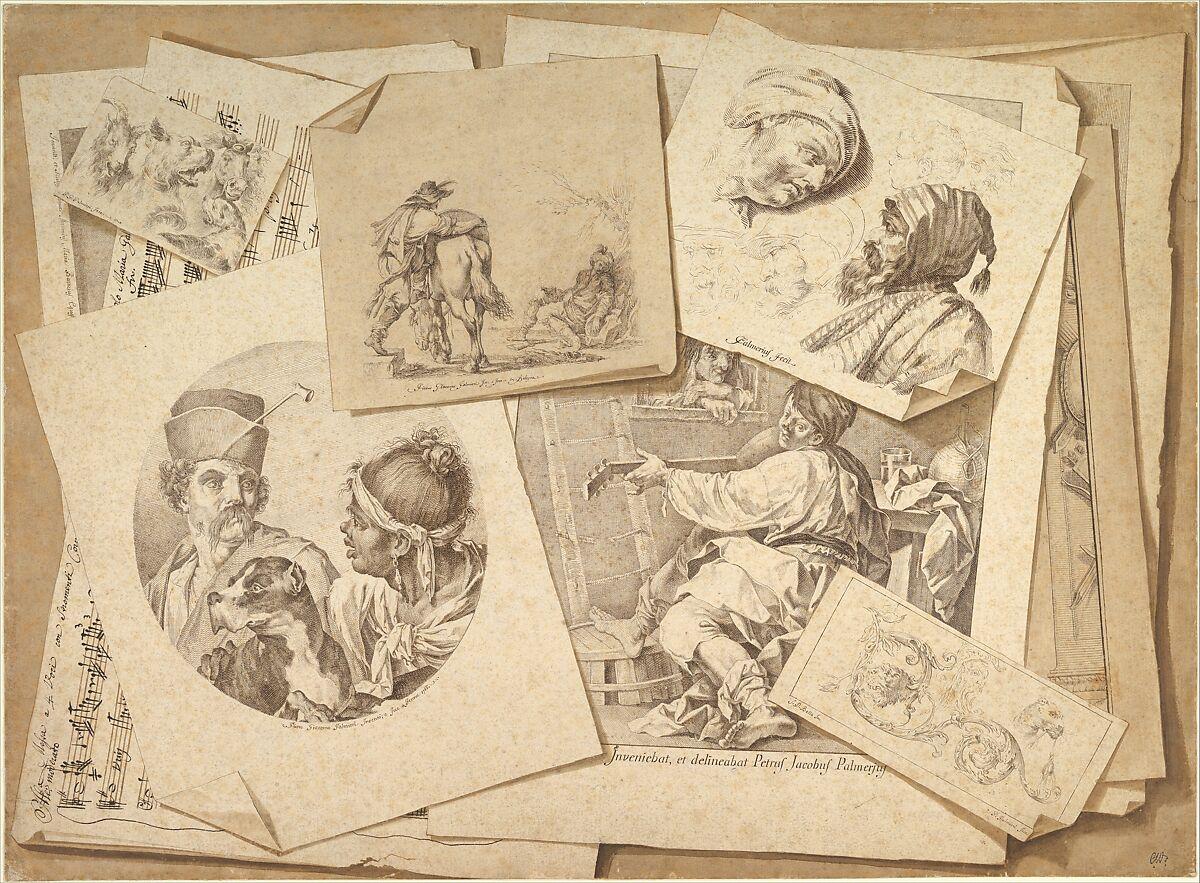 Pietro Jacopo Palmieri Trompe L Oeil Exercise Prints On A Table Top The Metropolitan Museum Of Art