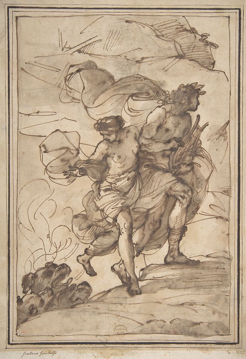 Attributed to Filippo Pedrini | Orpheus and Eurydice | The Met