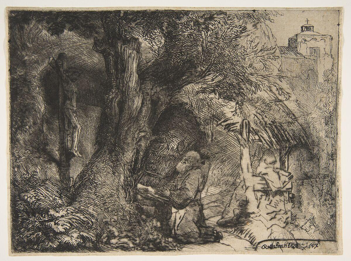 Rembrandt (Rembrandt van Rijn)   Saint Francis beneath a Tree, Praying   The Met