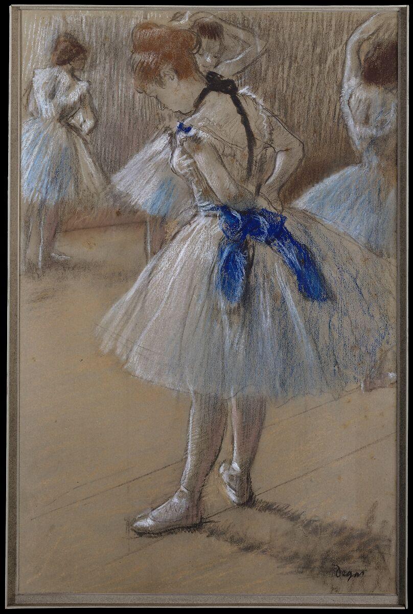 ダンサー、エドガードガ(フランス、パリ1834〜1917年パリ)、パステル、木炭