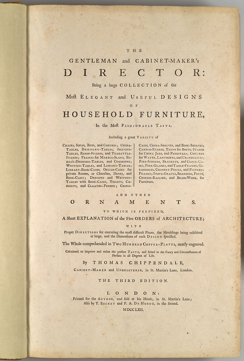 Thomas Chippendale | The Gentleman and Cabinet-Maker\'s Director ...