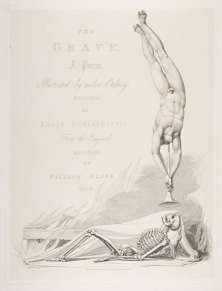 Luigi Schiavonetti | The Skeleton Re-Animated, Title Page to the Grave, a Poem by Robert Blair | The Met