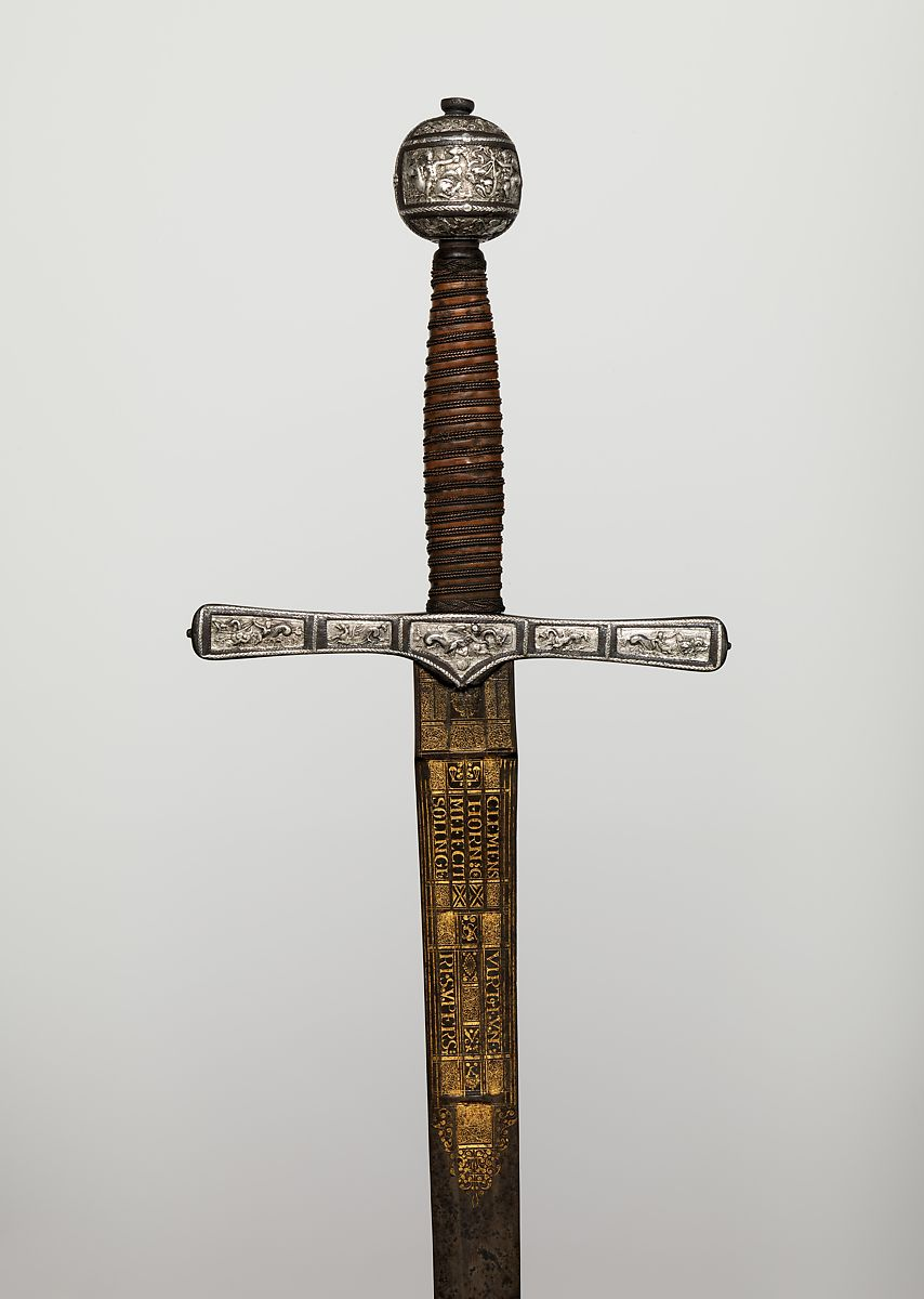 Blade Signed By Clemens Horn Cross Hilt Sword Hilt