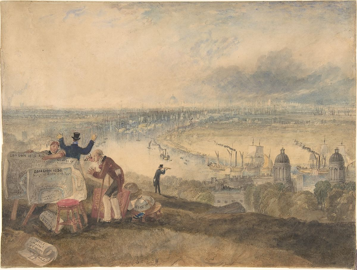 Joseph Mallord William Turner | View of London from Greenwich | The Met