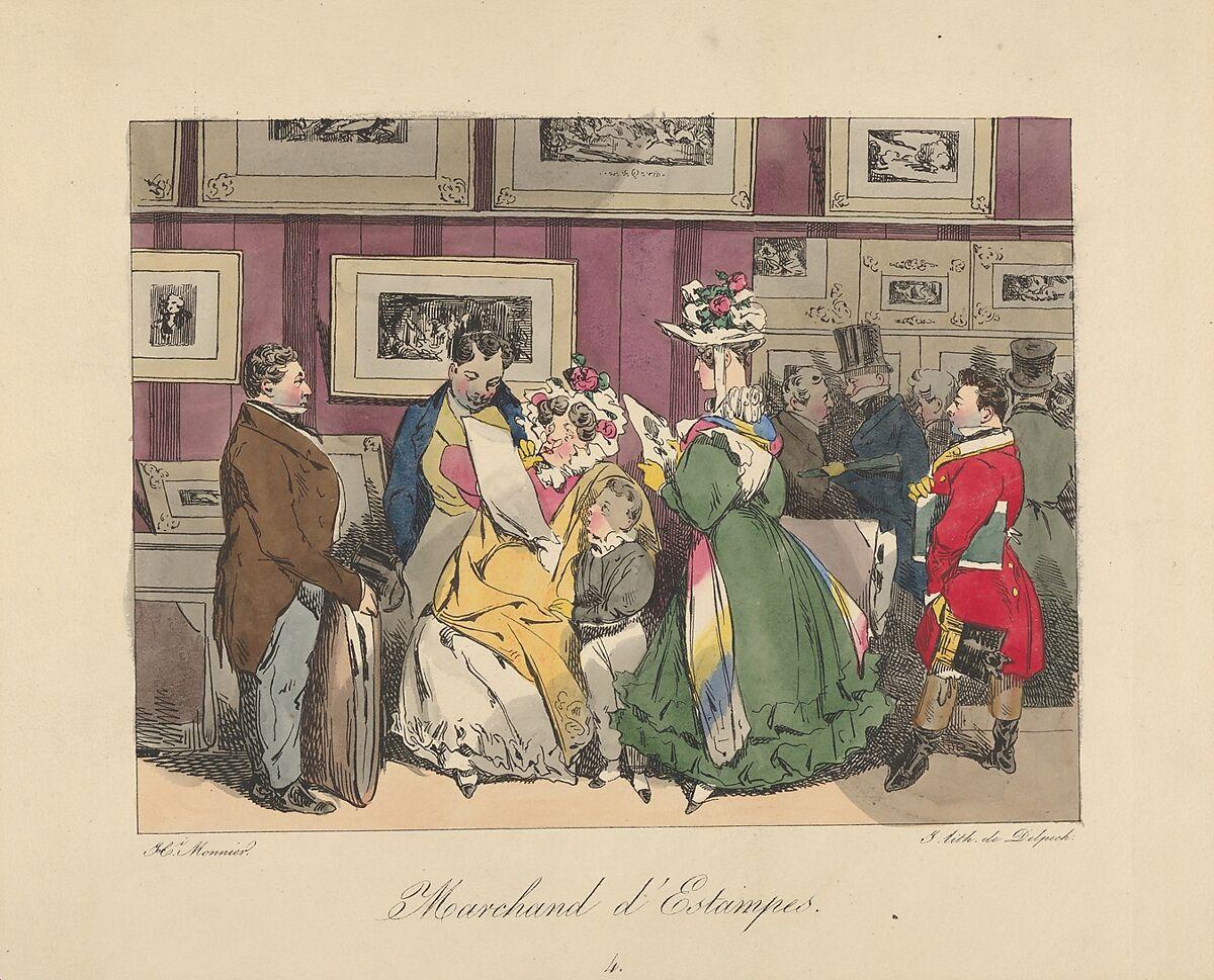 D Printing Exhibition Billingsgate : Henry bonaventure monnier print dealer the met