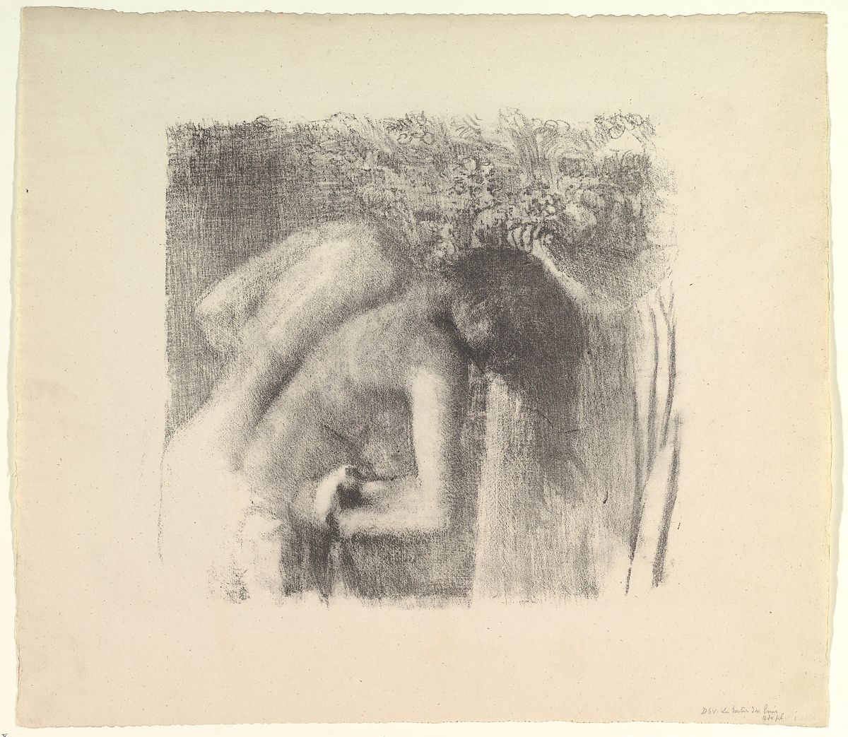 Degas After the Bath 1891–92 Lithograph, transfer, and crayon on laid paper; fifth (final) state