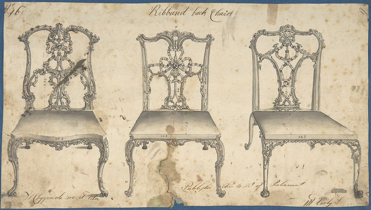 Thomas Chippendale Ribband Back Chairs The Met