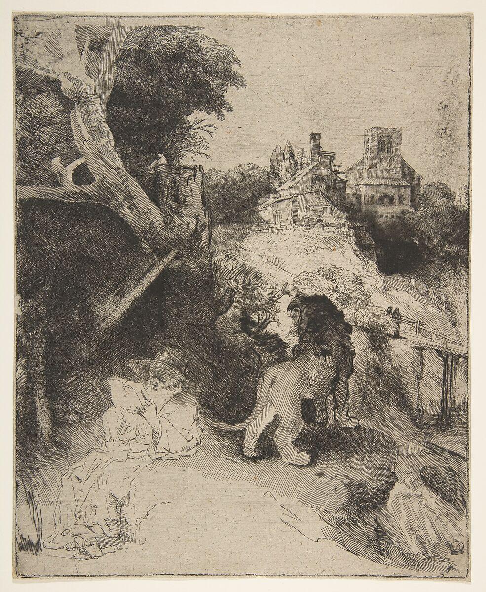 Rembrandt (Rembrandt van Rijn) | St. Jerome Reading in an Italian Landscape | The Met
