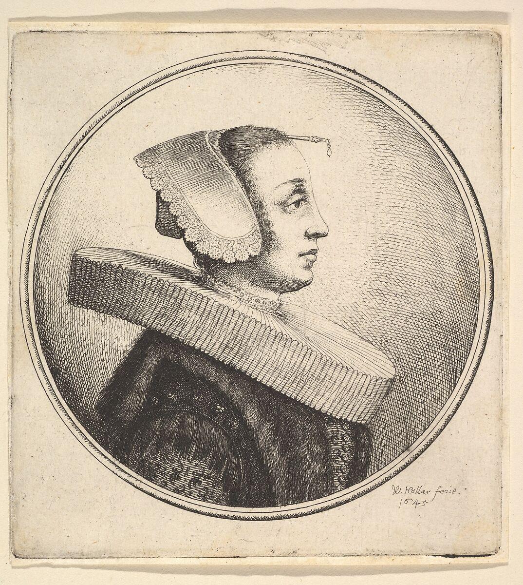 Wenceslaus Hollar | Woman with circular ruff, bonnet and