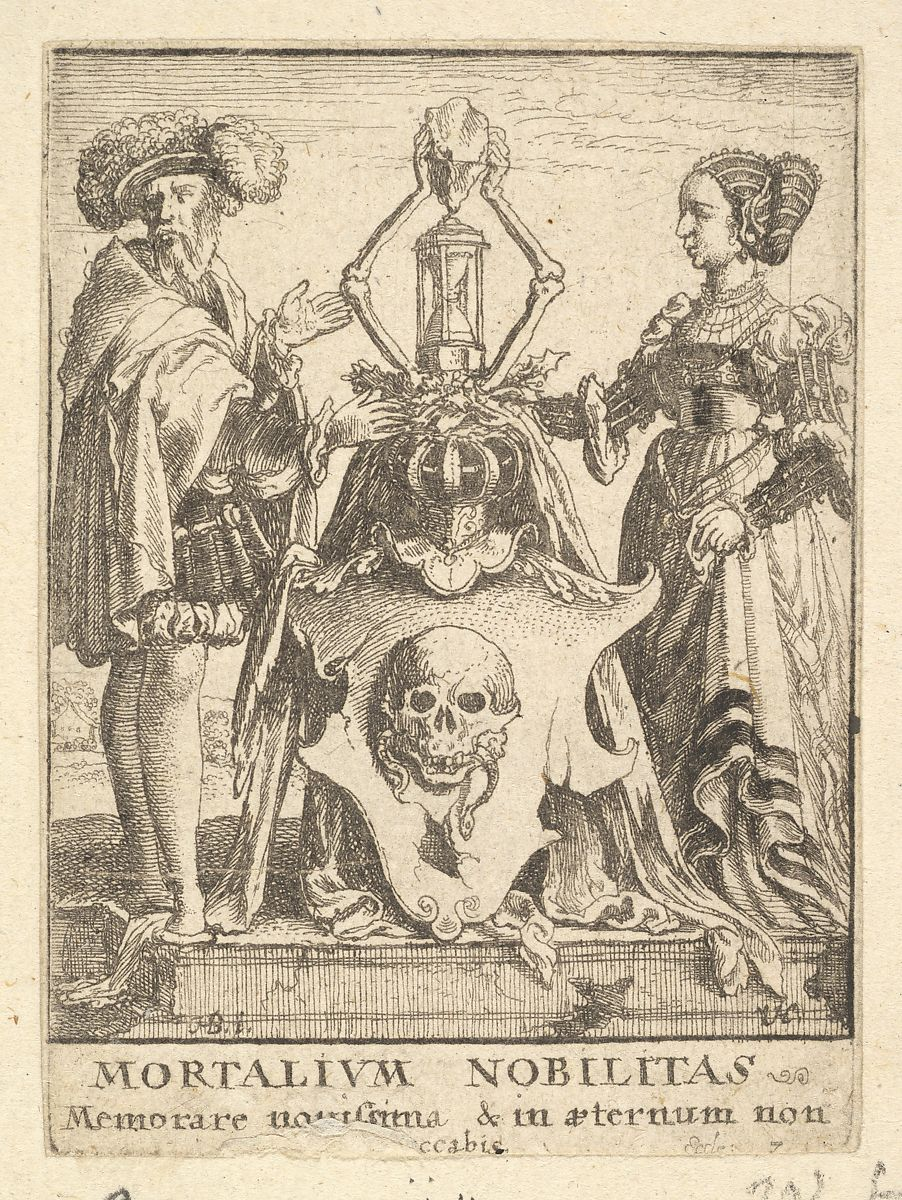 Wenceslaus Hollar | Death's coat of arms, from the Dance of Death | The Met