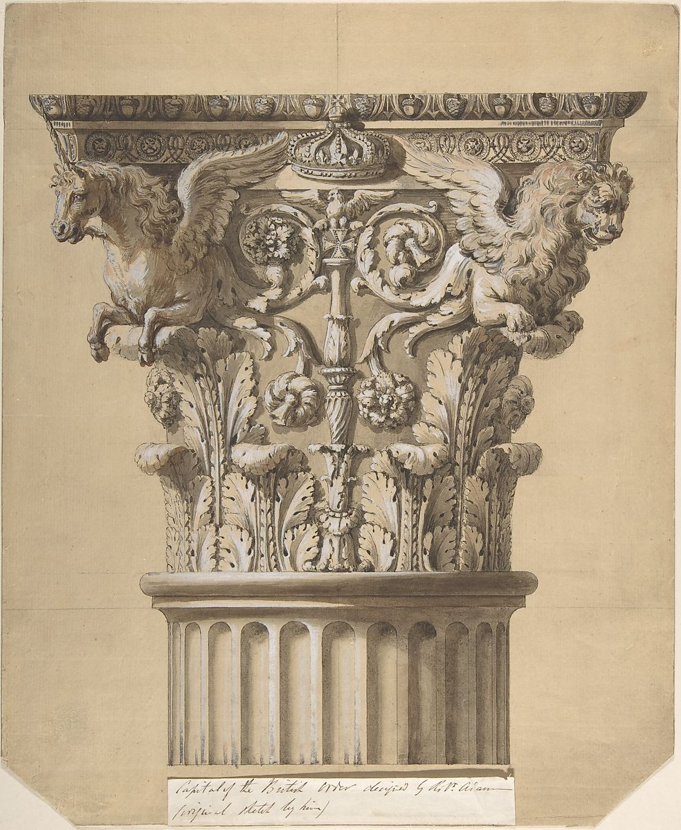 James Adam   The British Order: Elevation of a Capital and Part of the Fluted Shaft   The Met