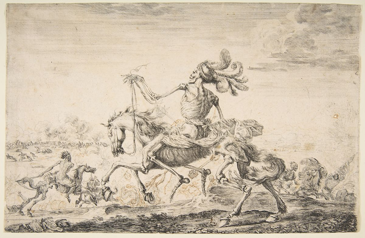 Stefano della Bella | Death on the Battlefield, from 'The five deaths' (Les cinq Morts) | The Met