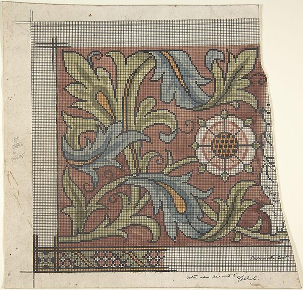 Ernest Geldart Design For Ecclesiastical Embroidery Cross