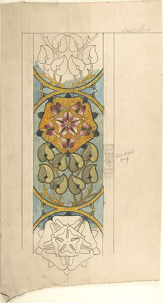 Ernest Geldart Design For Ecclesiastical Embroidery Vertical