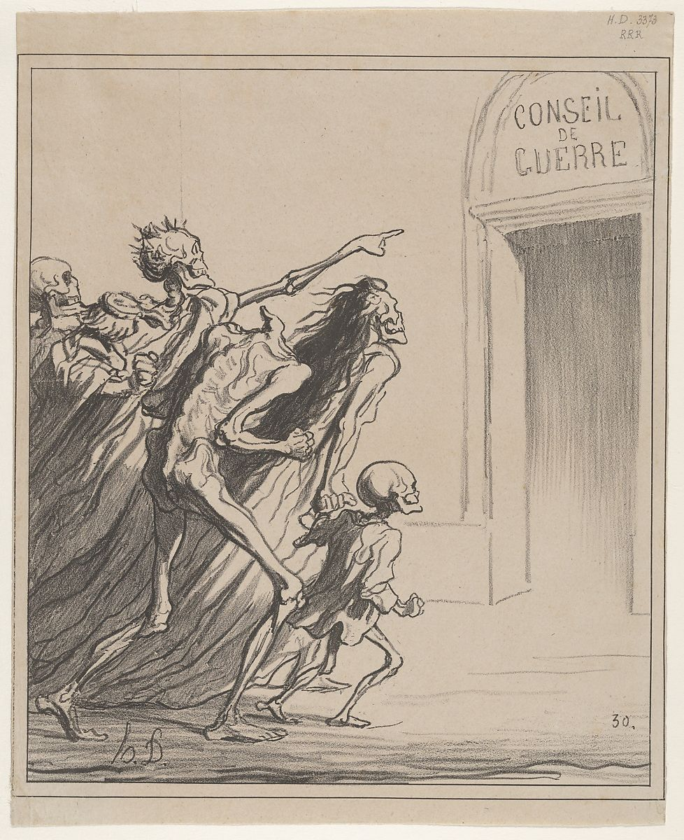 Honoré Daumier | The Witnesses - The War Council | The Met