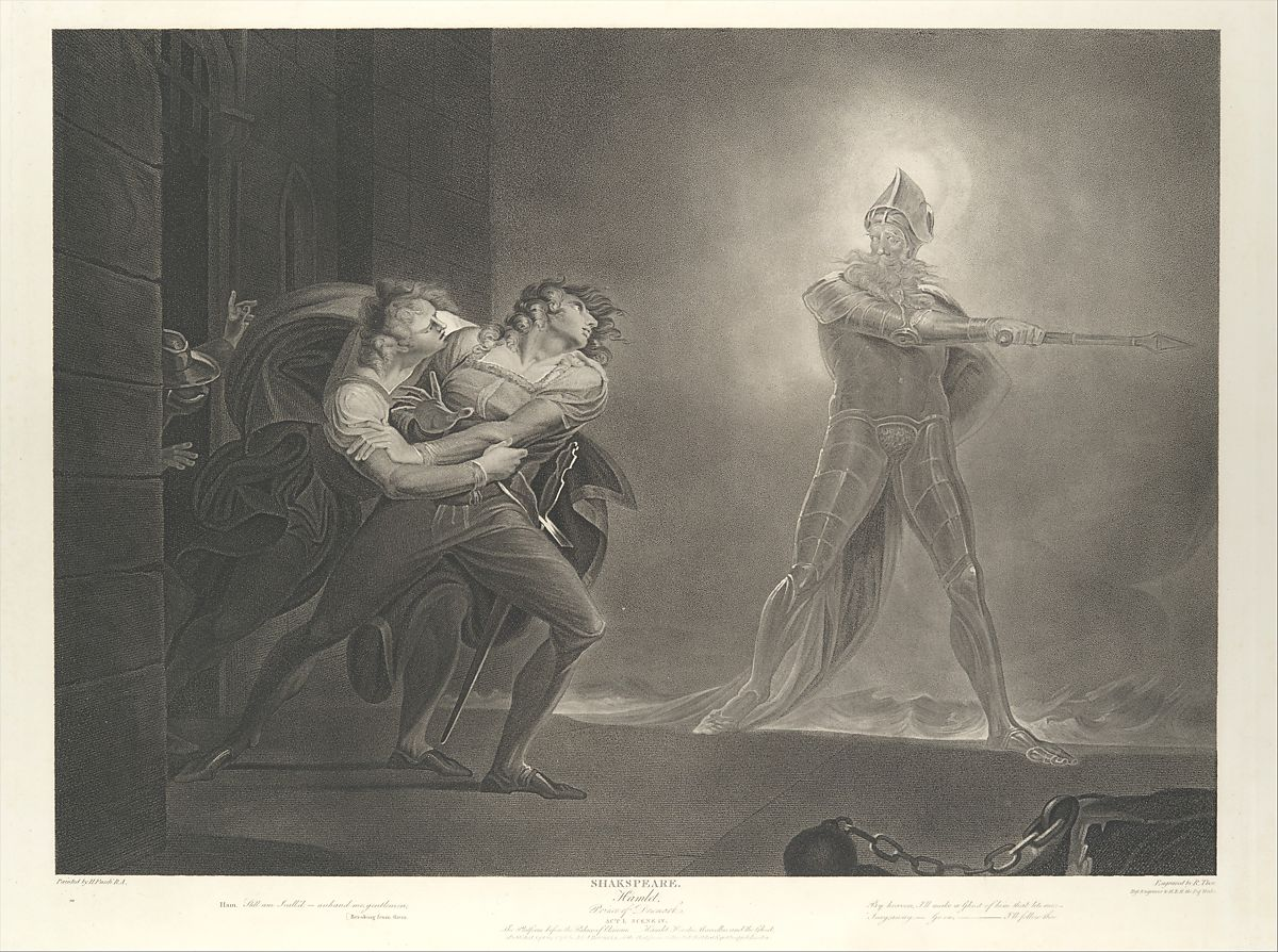 Robert Thew | Hamlet, Horatio, Marcellus and the Ghost (Shakespeare, Hamlet, Act 1, Scene 4) | The Met